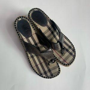 Burberry Wedge Sandals Sz 39